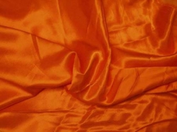 Karneval Fasching Satin, Rückseite gerauht, Uni Orange