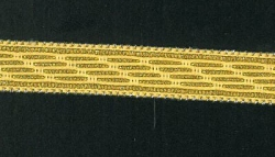 Uniform Tresse, 10mm breit, gold, 25m Karte